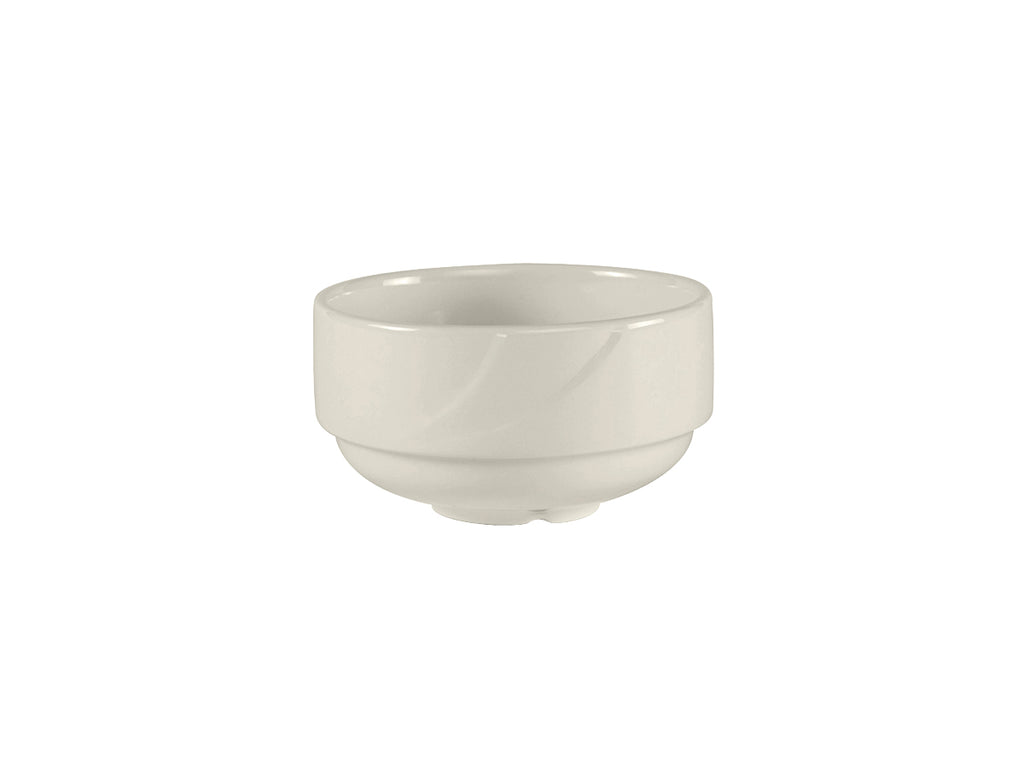 San Marino AlumaTux Stackable Soup Cup 10-1/2oz - Pearl White Embossed (Pack of 24)