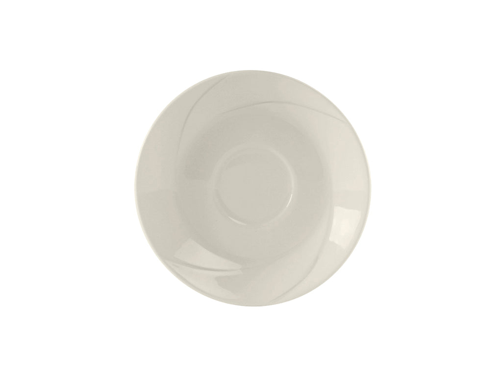 "San Marino AlumaTux Saucer 6"" - Pearl White Embossed (Pack of 36)"