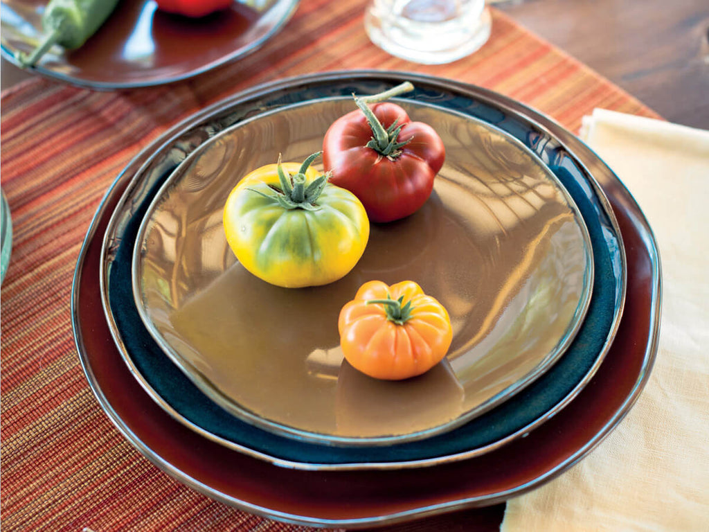 "Artisan Reactive Round Salad Plate 9"" - Set of 12 *SAMPLE SALE*"