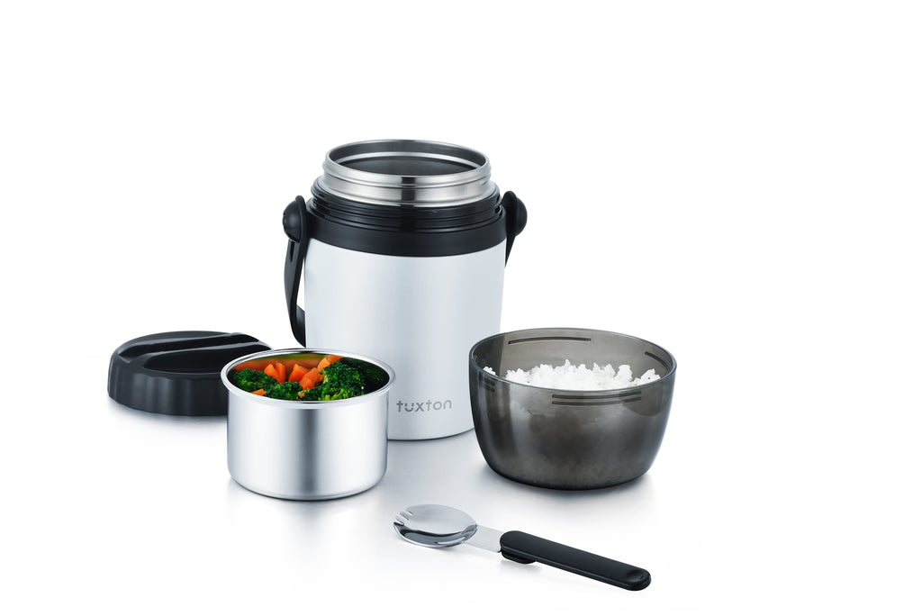 TuxCafe 32oz Leakproof Surgical Stainless Steel Vacuum-Insulated Soup Lunch Box with Integrated Handle