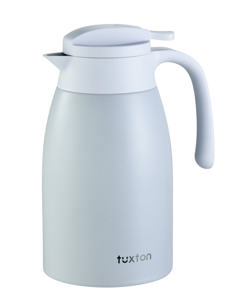 TuxCafe 67oz Leakproof Stainless Steel Vacuum-Insulated Coffee Pitcher