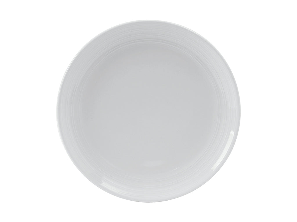 "Pacifica Healthcare Plate 9"" - Porcelain White Embossed (Pack of 12)"
