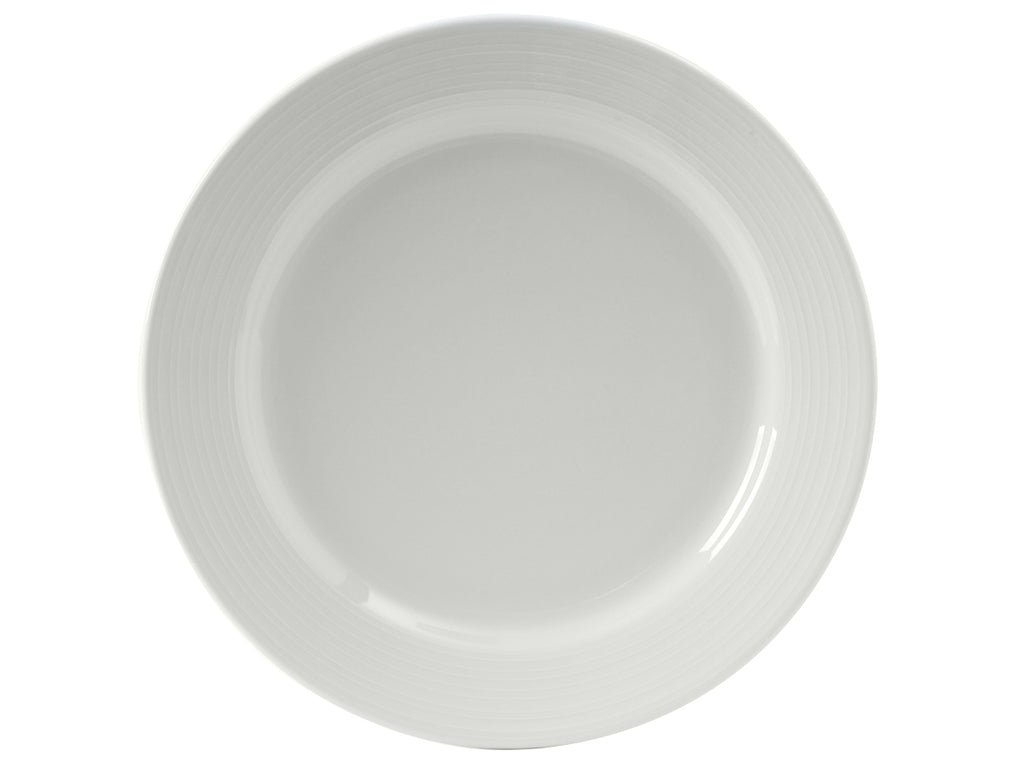 "Pacifica Plate 11"" - Porcelain White Embossed (Pack of 12)"