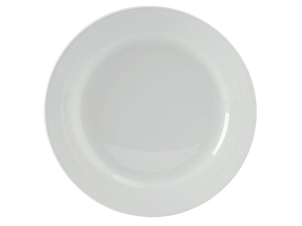 "Pacifica Plate 11-3/4"" - Porcelain White Embossed (Pack of 12)"