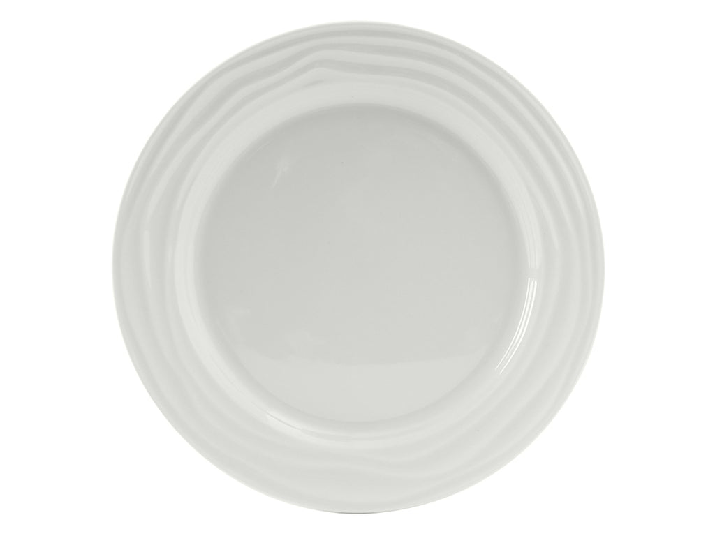"Sandbar Plate 10-1/2"" - Porcelain White (Pack of 12)"
