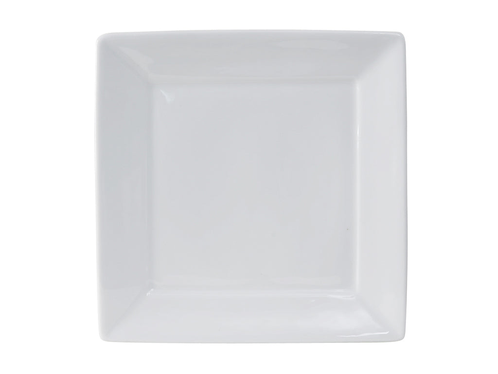 "Santorini Square Plate 10-1/8"" - Porcelain White (Pack of 12)"