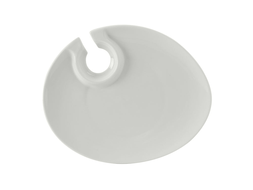 "TuxTrendz Wine and Appetizer Plate 10"" - Porcelain White (Pack of 12)"