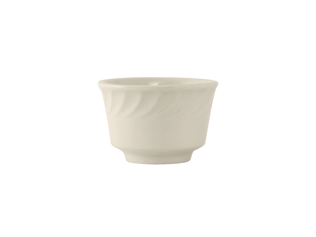 Meridian Bouillon 8oz - Eggshell White Embossed (Pack of 36)