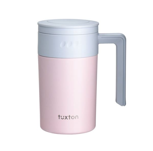TuxCafe 17oz Surgical Steel Leakproof Travel Mug with BONUS GIFT: Integrated Tea Strainer