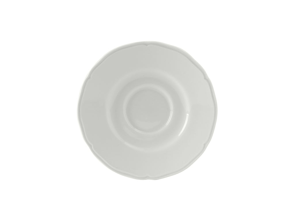 "Charleston Saucer 6"" - Porcelain White Scalloped (Pack of 36)"