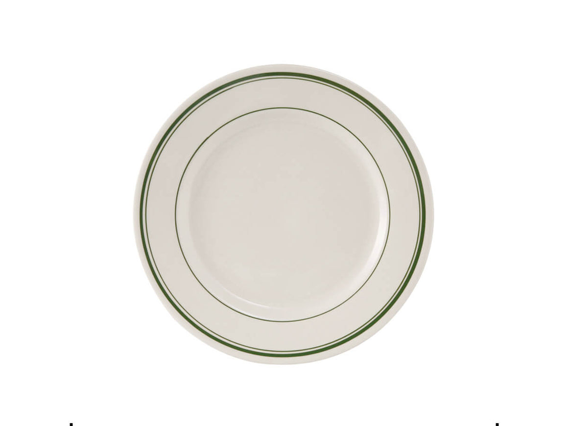 "Tuxton Home Dinnerware - Green Bay Striped Salad Plate 7"" (Green Stripe)"