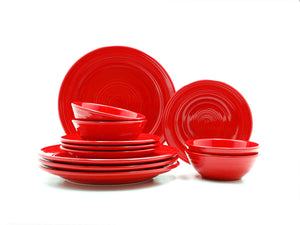 Tuxton Home Dinnerware - Concentrix 12-Piece Dinnerware Set
