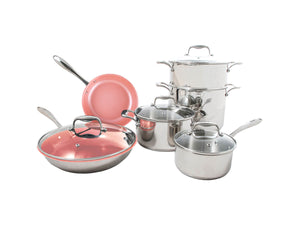 Tuxton Home Cookware - Concentrix Stainless Steel 10-Piece Housewarming Cookware Set