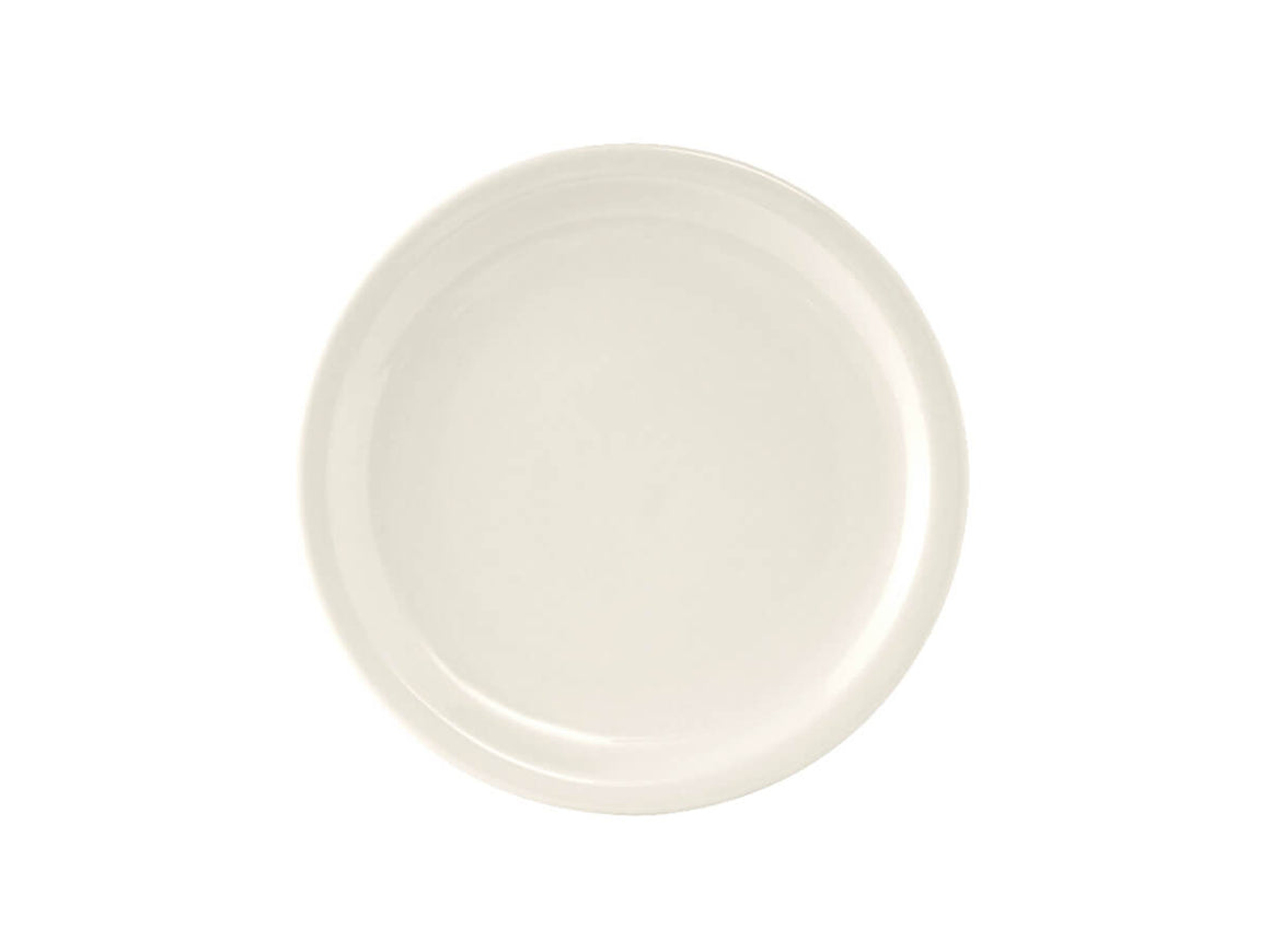 "Tuxton Home Dinnerware - Nevada Narrow Rim Salad Plate 7"" (American White/Vintage Cream)"