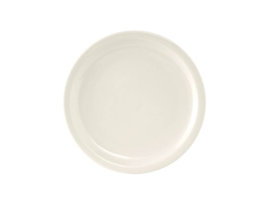 "Tuxton Home Dinnerware - Nevada Narrow Rim Salad Plate 7"" - Set of 4 (American White/Vintage Cream)"