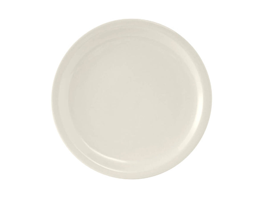 "Tuxton Home Dinnerware - Nevada Narrow Rim Dinner Plate 10"" - Set of 4 (American White/Vintage Cream)"