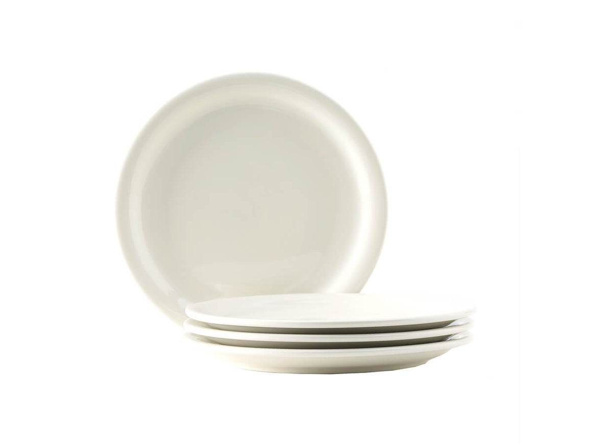 "Tuxton Home Dinnerware - Nevada Narrow Rim Dinner Plate 10"" (American White/Vintage Cream)"