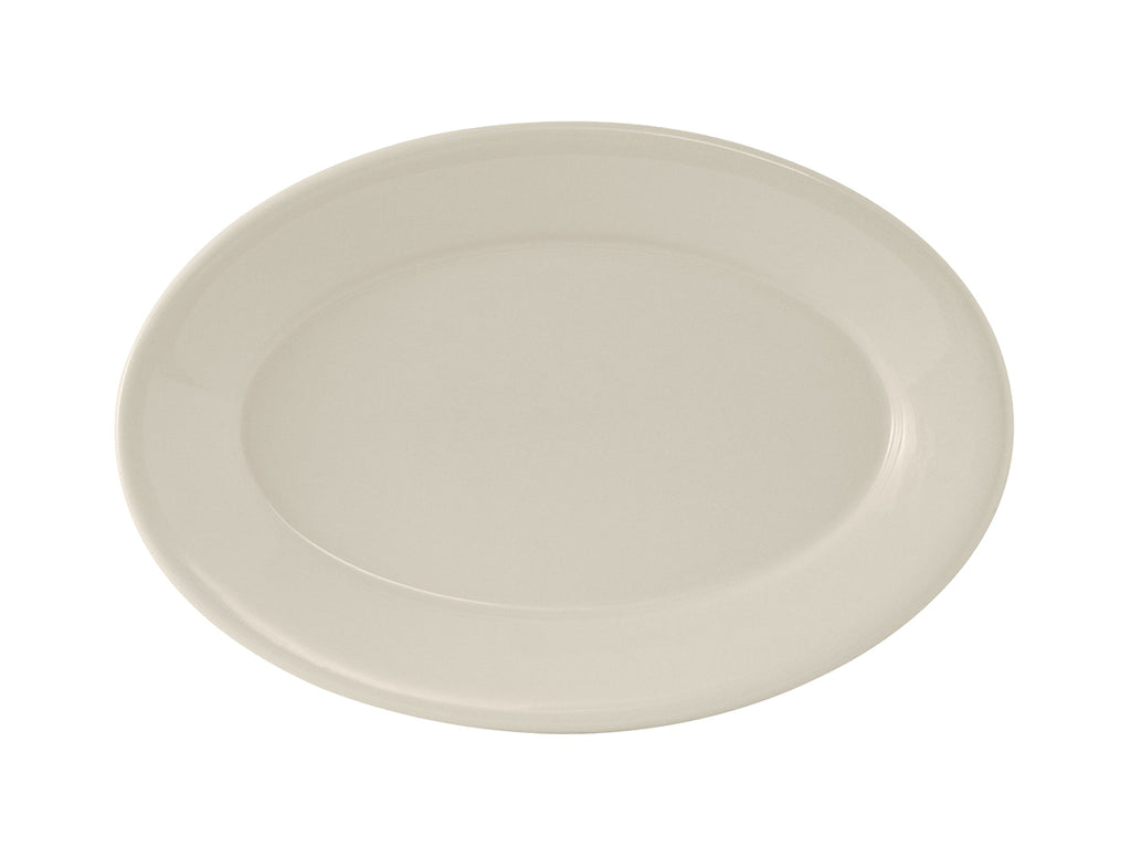 "Reno Oval Platter 12-5/8"" - Eggshell White Re (Pack of 12)"