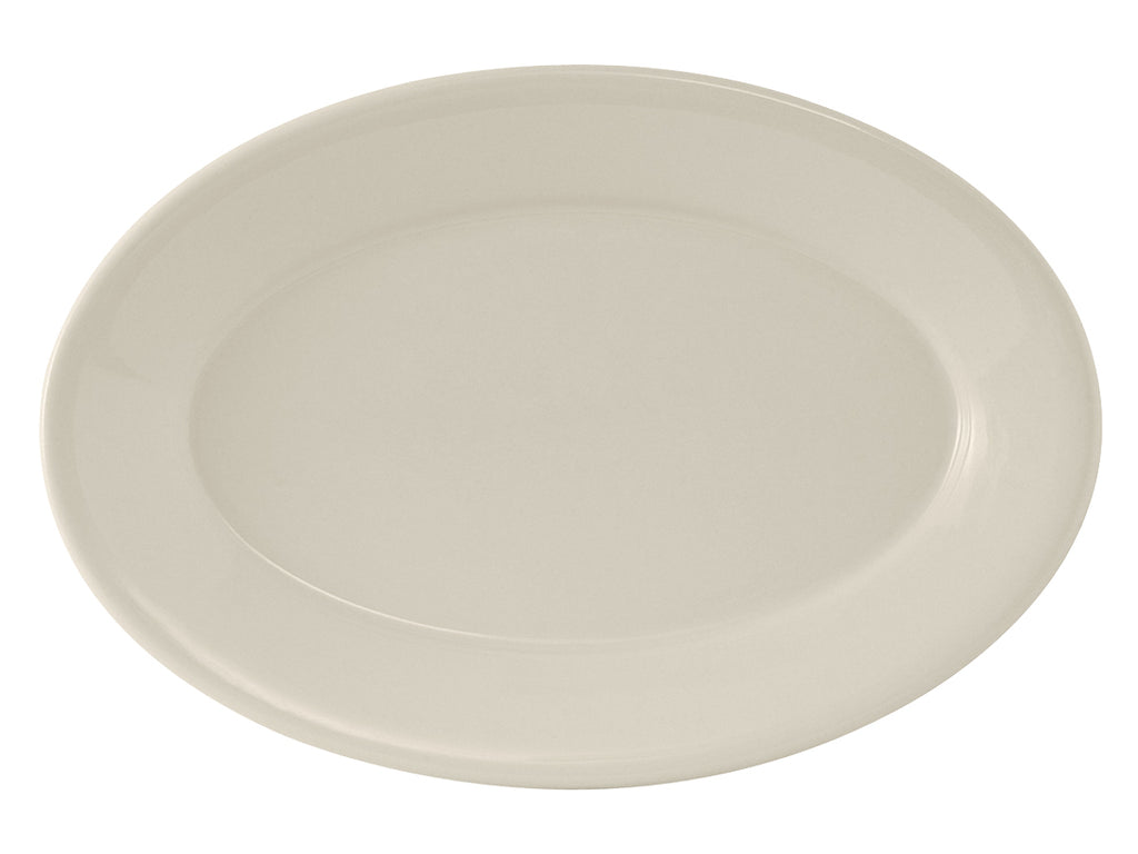 "Reno Oval Platter 15-3/4"" - Eggshell White Re (Pack of 6)"