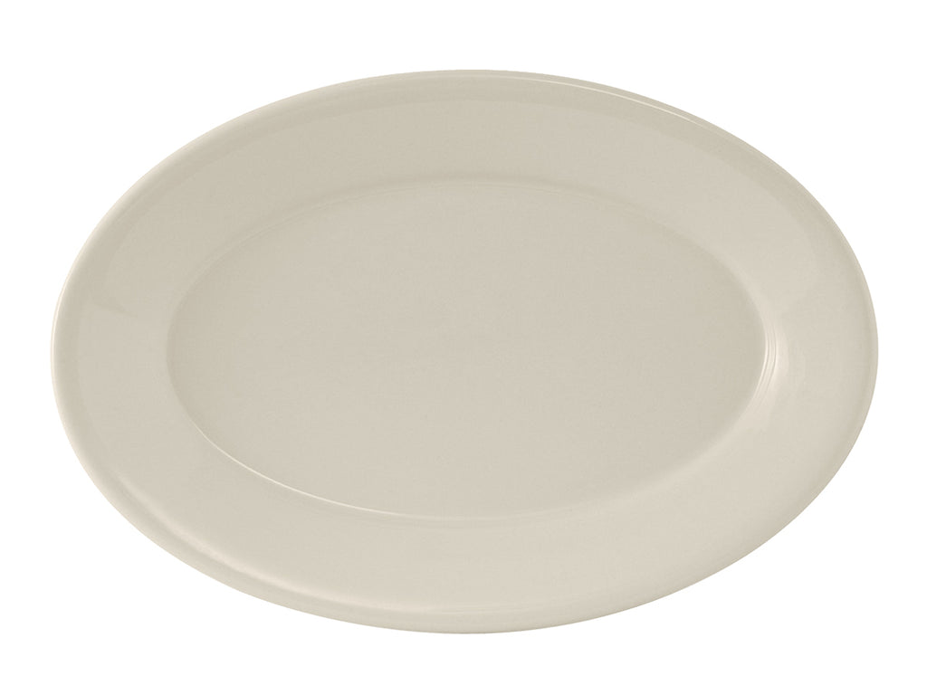 "Reno Oval Platter 14-3/4"" - Eggshell White Re (Pack of 6)"