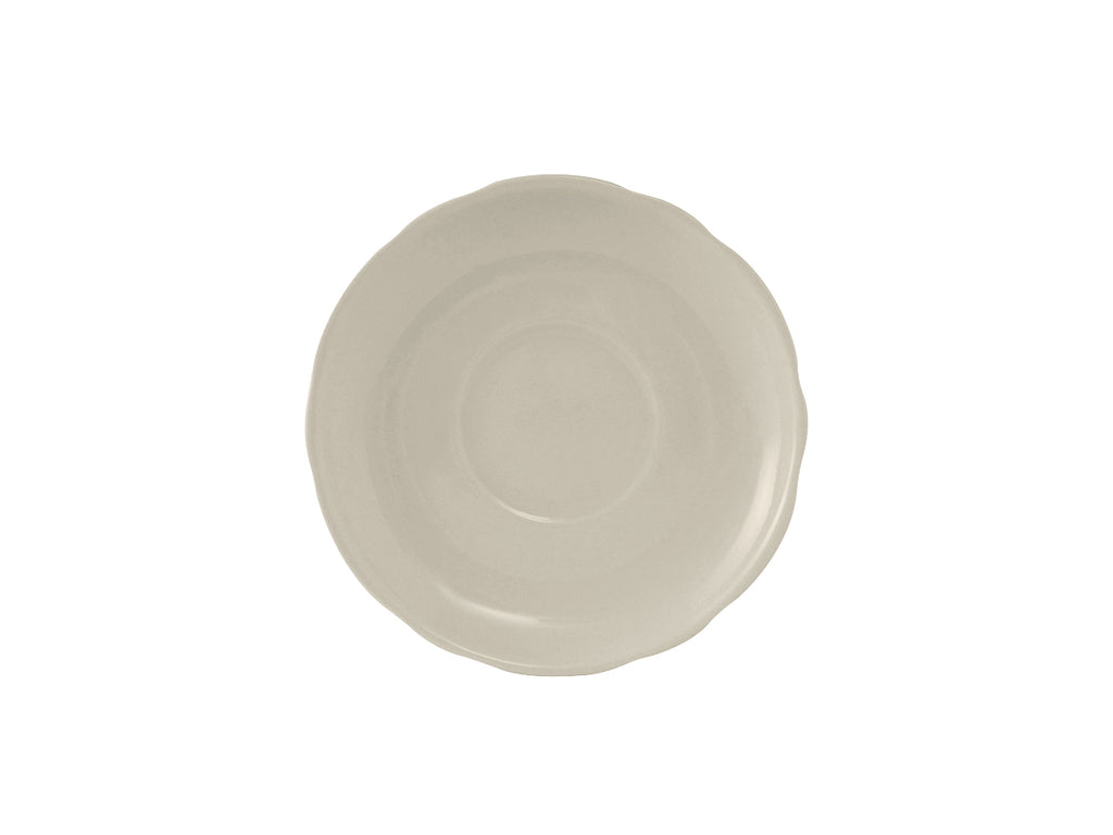 "Shell Saucer 5-1/2"" - Eggshell White Scalloped (Pack of 36)"