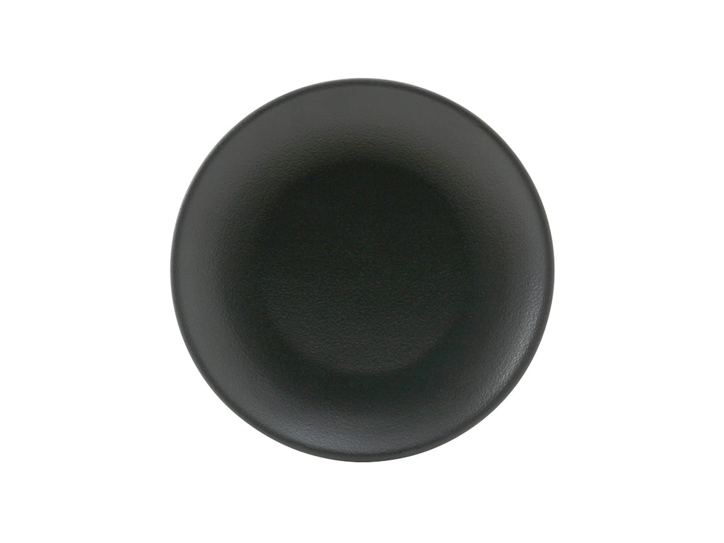 "Zion Plate 7-1/8"" - Matte Black Coupe (Pack of 36)"