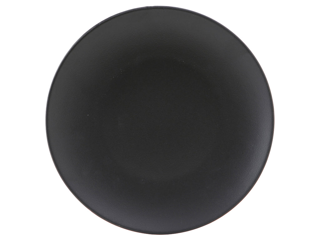 "Zion Plate 11-3/4"" - Matte Black Coupe (Pack of 12)"