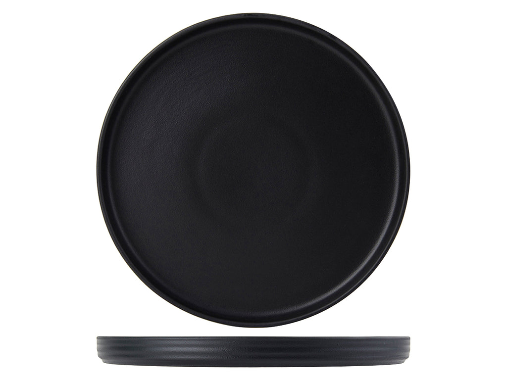 "Zion Plate Straight Side 10-3/4"" - Matte Black (Pack of 12)"