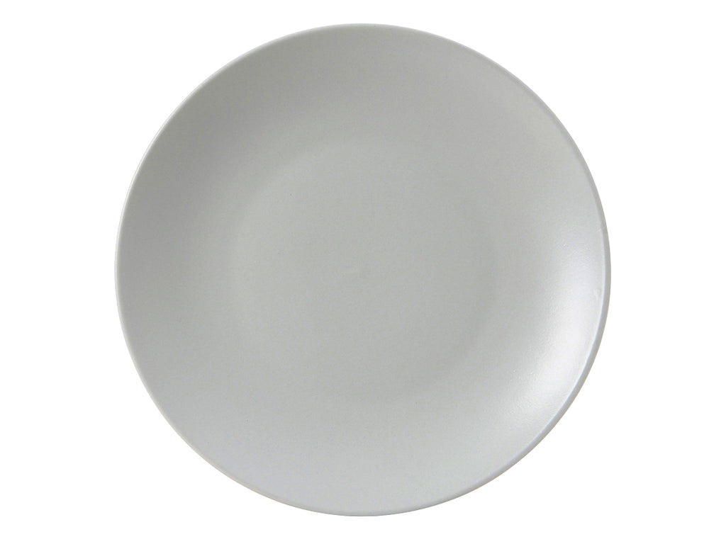 "Zion Plate 10-1/4"" - Matte Gray Coupe (Pack of 12)"