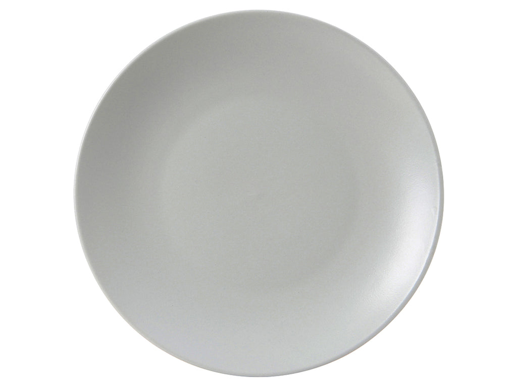"Zion Plate 11-3/4"" - Matte Gray Coupe (Pack of 12)"