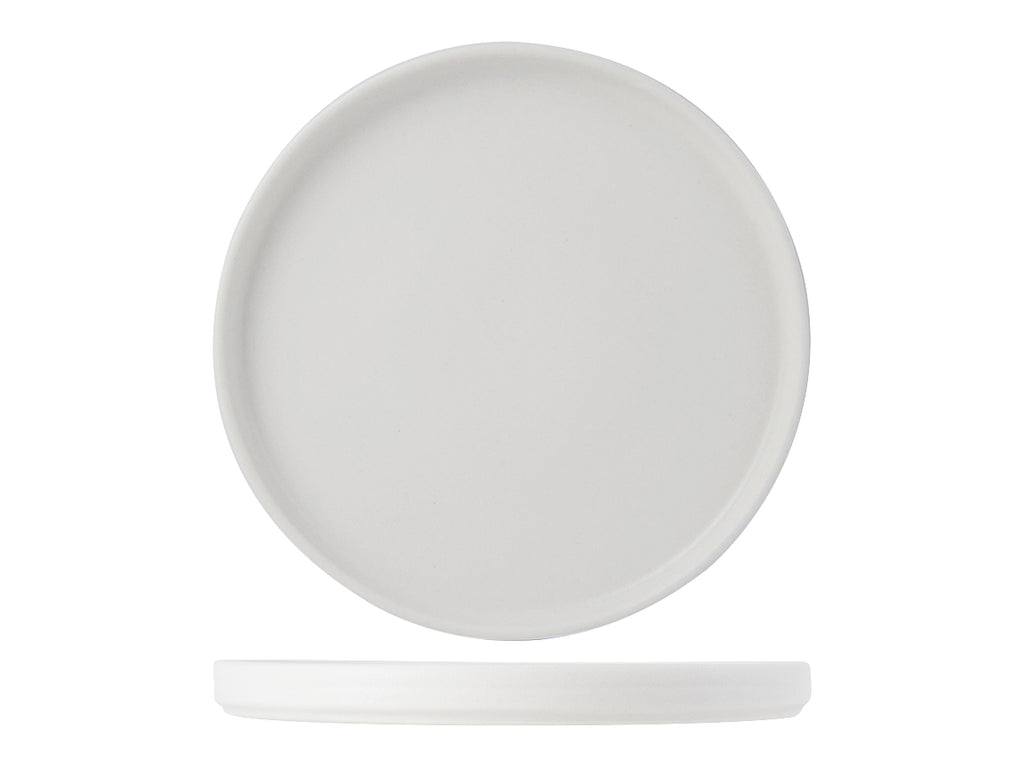 "Zion Plate Straight Side 8-1/4"" - Matte White (Pack of 24)"