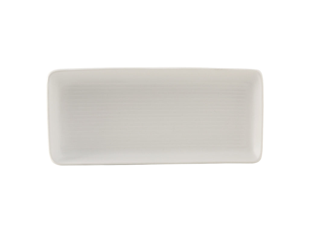 "Zion Tray 10-7/8"" - Matte White Embossed (Pack of 12)"