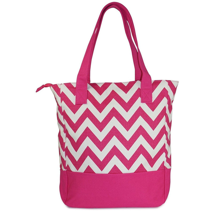 Canvas Tote Handbags Chevron - Dallas Wholesalers