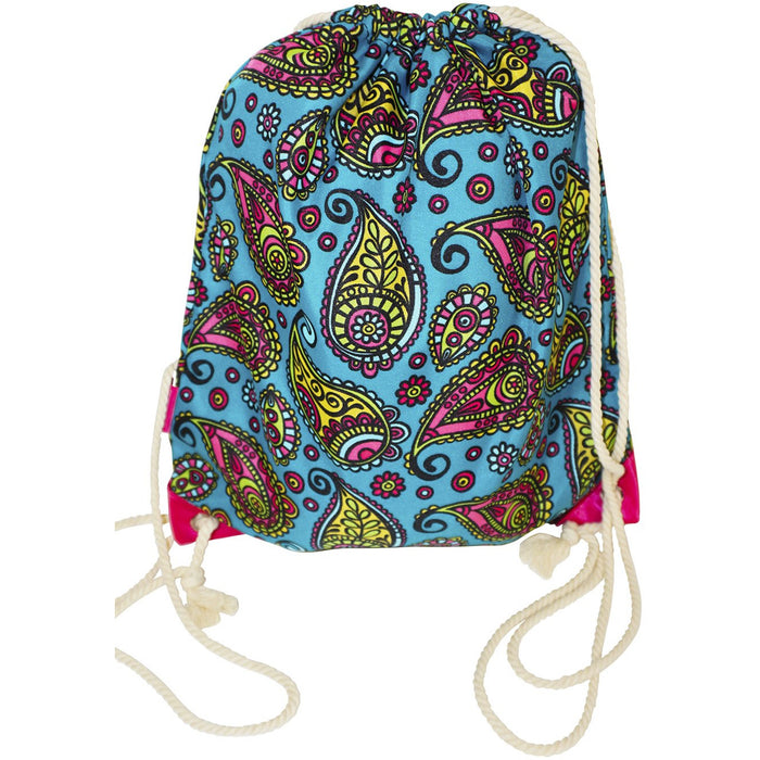 Paisley Drawstring Backpack - Dallaswholesalers.net