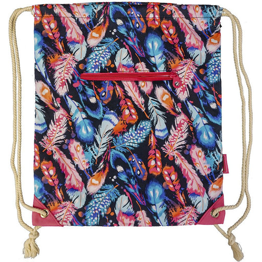 Feather Drawstring Backpack - Dallaswholesalers.net
