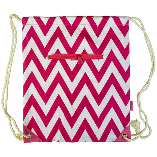 Chevron Drawstring Backpack - Dallaswholesalers.net