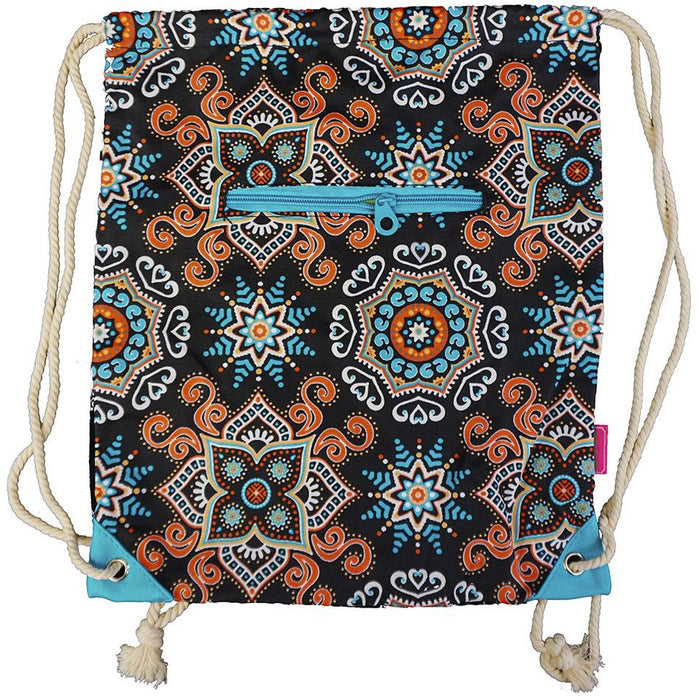 Mosaic Drawstring Backpack - Dallaswholesalers.net