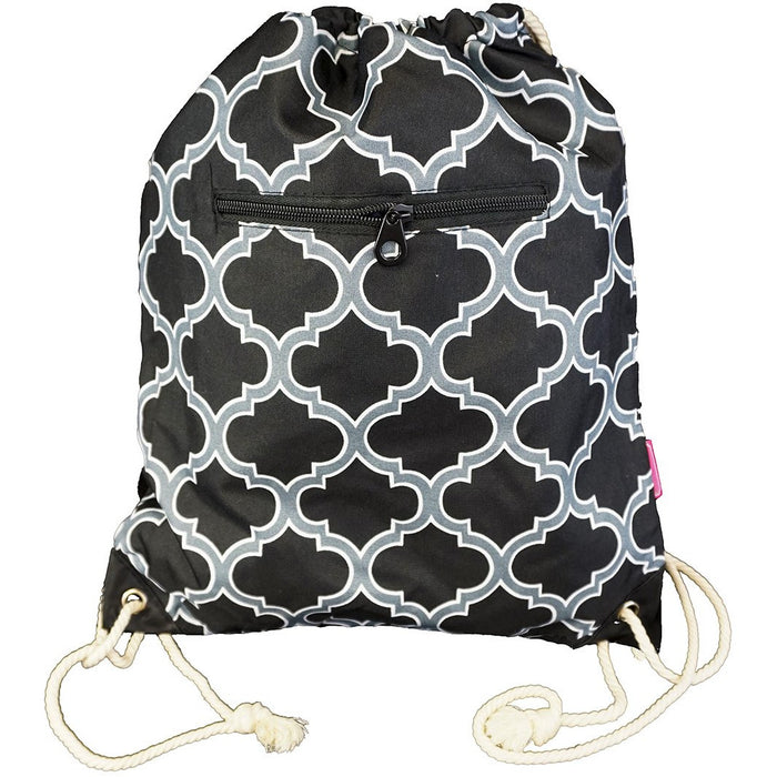 Quatrefoil Drawstring Backpack - Dallaswholesalers.net