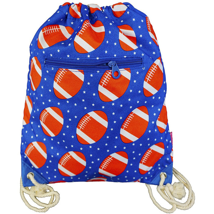 Football Drawstring Backpack - Dallaswholesalers.net