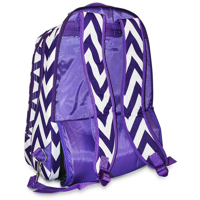 Chevron Rolling Laptop Backpack