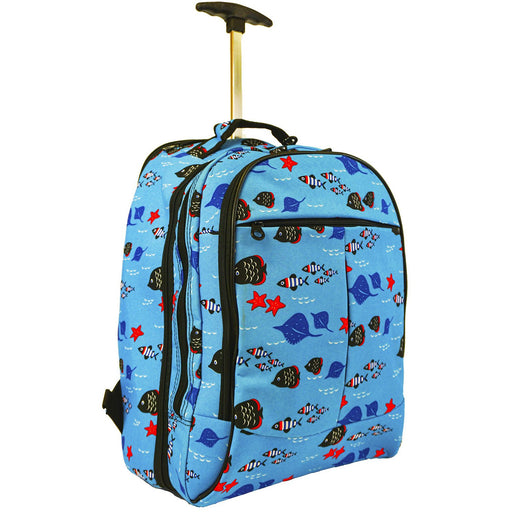 Fish Rolling Laptop Backpack - Dallaswholesalers.net