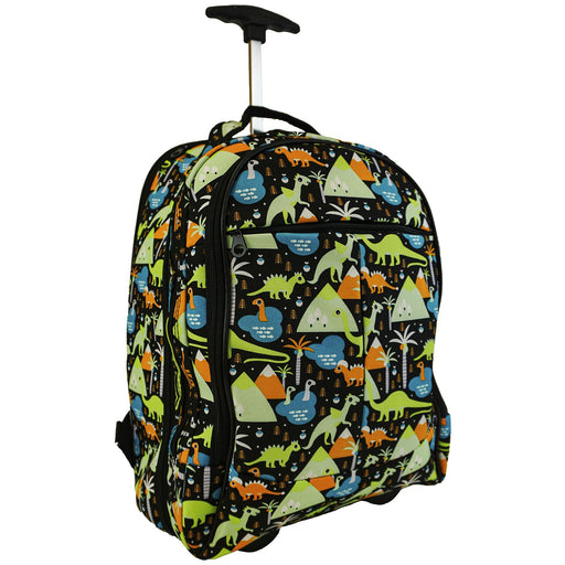 Dinosaur Rolling Laptop Backpack - Dallaswholesalers.net
