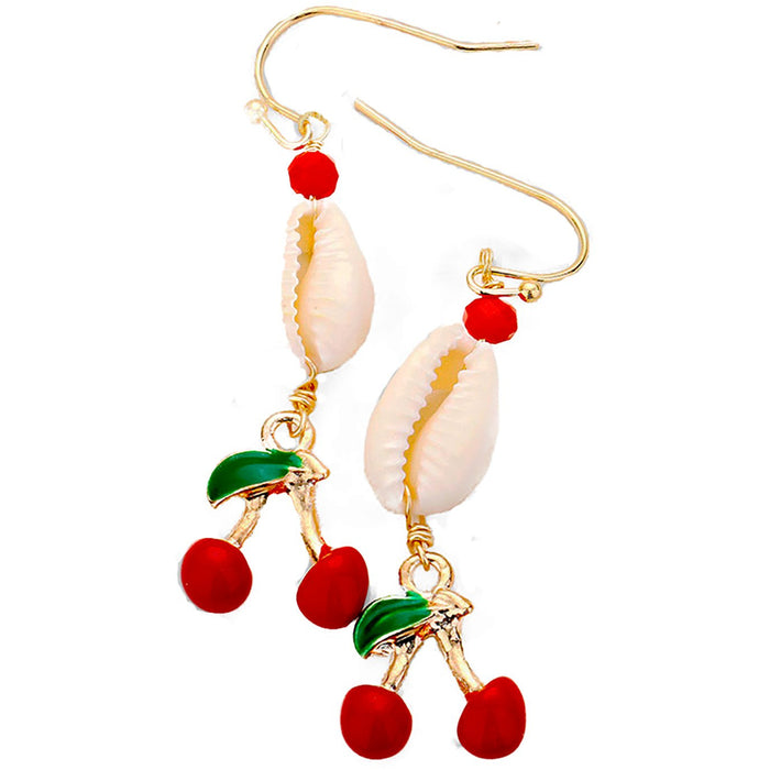 Cherry Shell Earrings Wholesale - Dallas Wholesalers