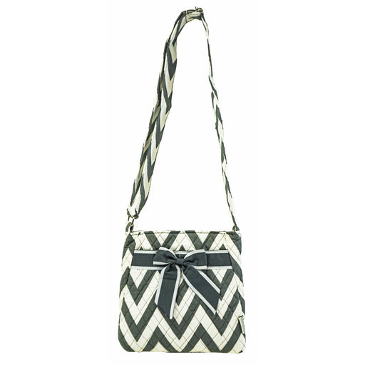 Quilted Chevron Crossbody Bag - Dallaswholesalers.net