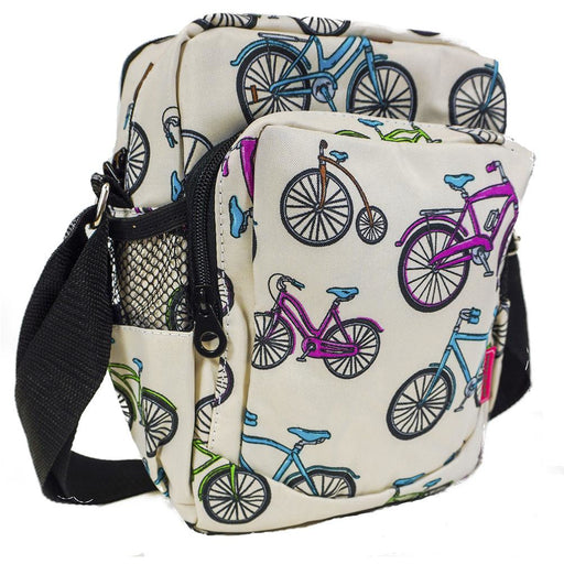 Bicycle Print Crossbody Messenger Bag - Dallaswholesalers.net