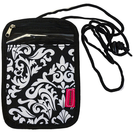 Damask Passport Neck Pouch
