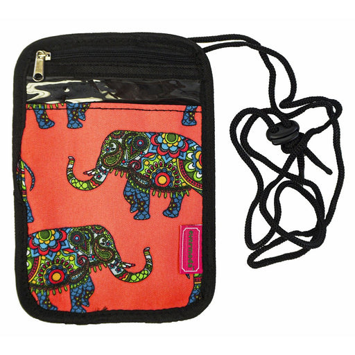Elephant Passport Neck Pouch