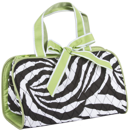 Zebra Quilted Toiletry Bag