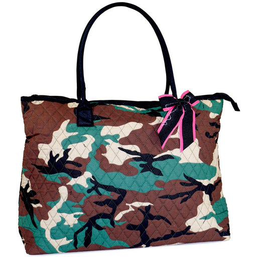 Camo Quilted Tote Bag - Dallaswholesalers.net