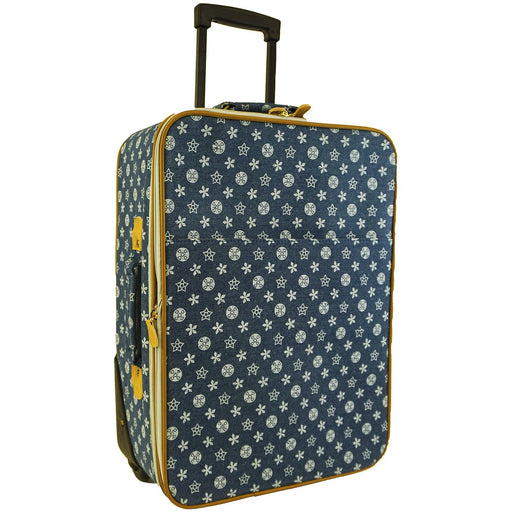 Geometric Rolling Carry On Luggage - Dallaswholesalers.net